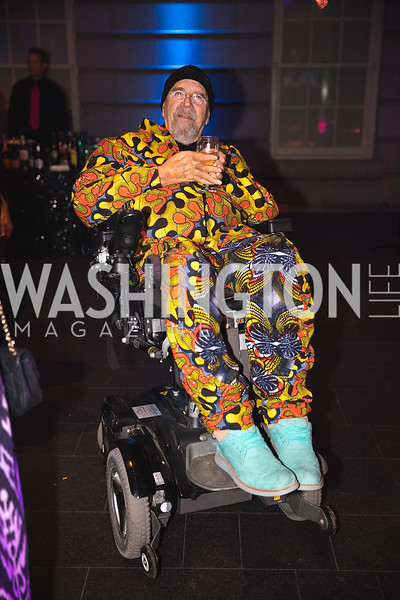 "Chuck Close. Photo by Bruce Allen. National Portrait Gallery ""Face Forward"" Artist Party."