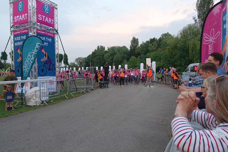 At the Start line ....First group set off at 9pm and then at 2 minute intervals
