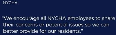 NYCHA says