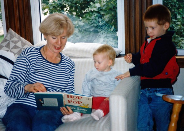 with Grandkids - Harris