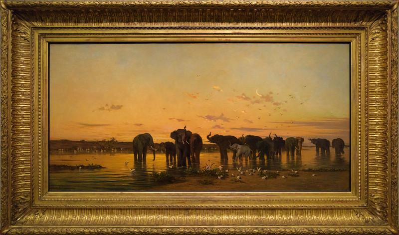 Charles de Tournemine, Éléphants d'Afrique (Salon de 1867)