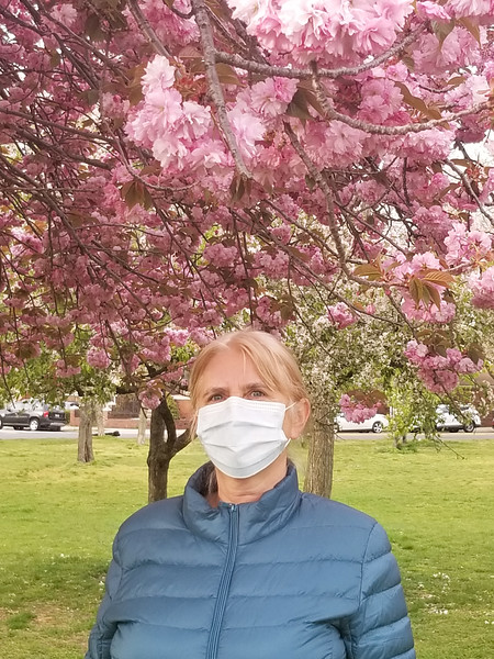 Walking safe in our neighborhood, Juniper Valley Park, Middle Village, NY - April 23, 2020