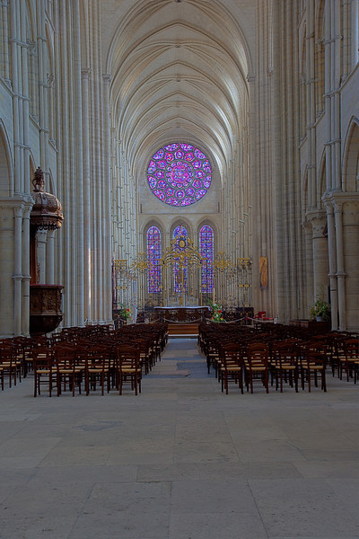 Laon Notre-Dame Cathedral Nave and Choir