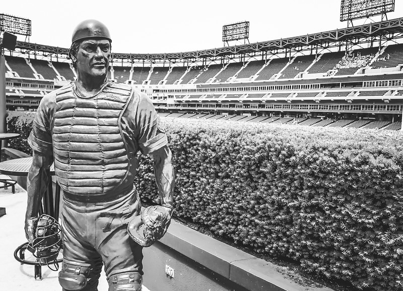 The Carlton Fisk statue at U.S. Cellular Field