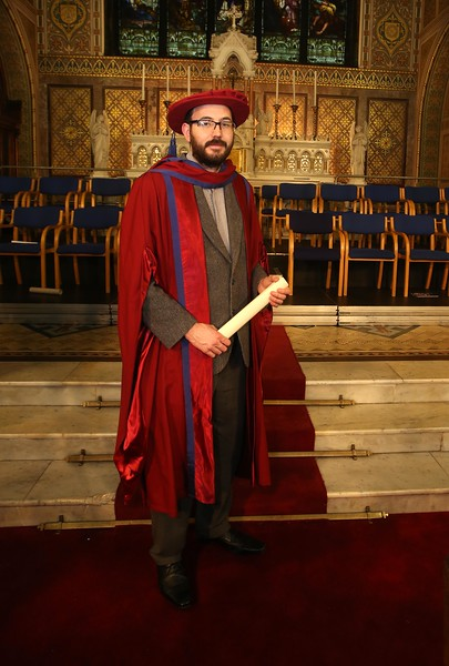 Pictured is Enda Coates, Newbridge, Co Kildare who were conferred a Doctor of Philosophy. Picture: Patrick Browne.