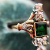 1.01ctw Victorian Emerald (syn) and Diamond Dinner Ring 21