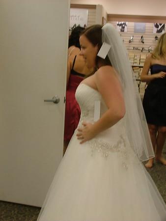 Erin pick up wedding dress Aug 2011