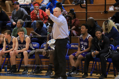 West Bladen vs Whiteville 2020 boys basketball