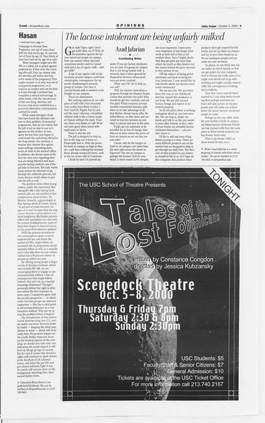 Daily Trojan, Vol. 141, No. 27, October 05, 2000