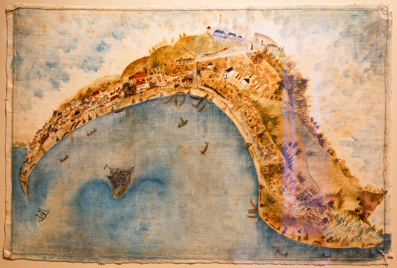 An 1834 map of Mackinac Island in the Museum