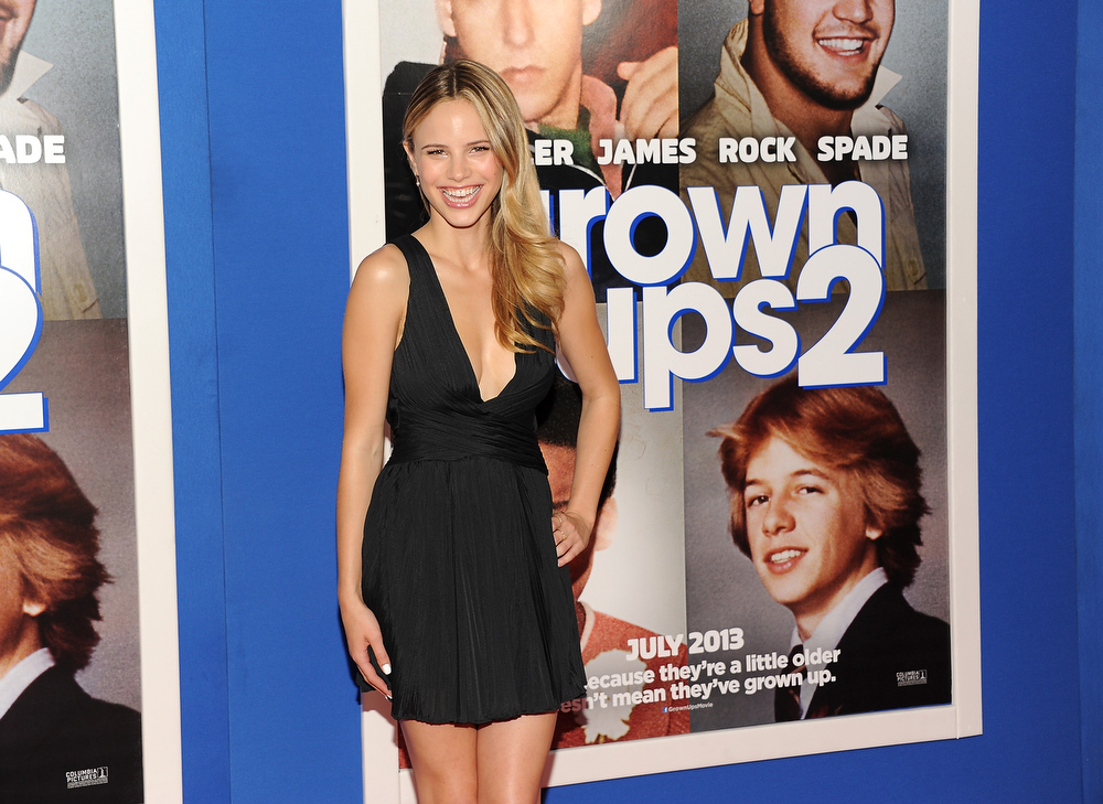 ". Actress Halston Sage attends the premiere of ""Grown Ups 2\"" at the AMC Loews Lincoln Square on Wednesday, July 10, 2013 in New York. (Photo by Evan Agostini/Invision/AP)"