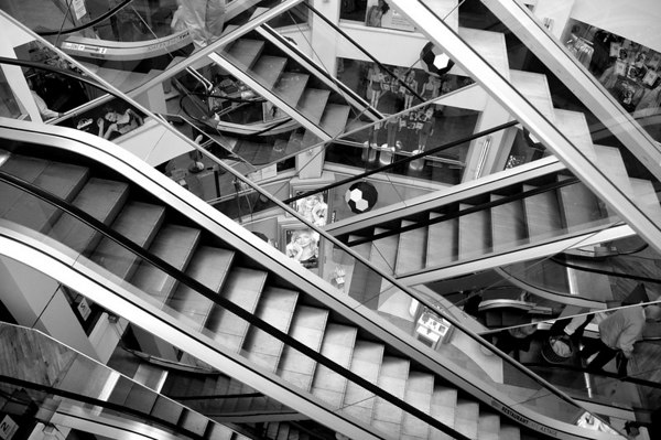 Mind numbing escalator