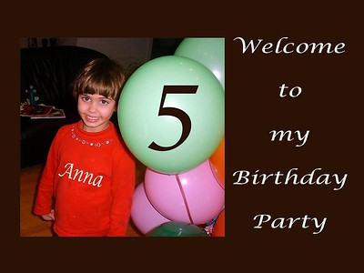 Anna's  5th Birthday Party