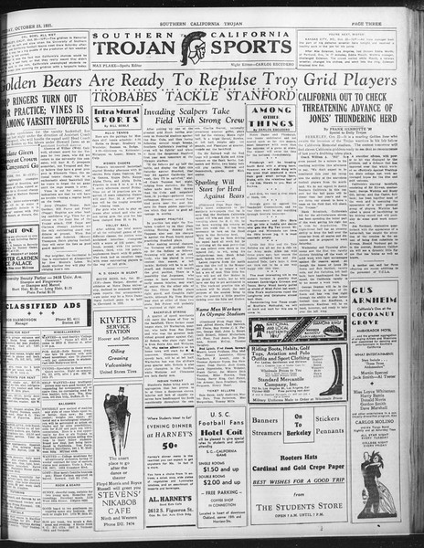 Daily Trojan, Vol. 23, No. 31, October 23, 1931