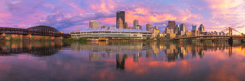 """Unconventional Sunset"" - Pittsburgh, North Shore   Recommended Print sizes*:  5x15  