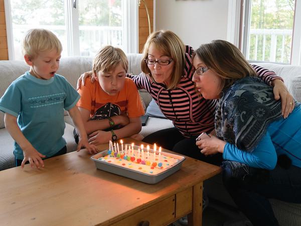 Kathi's 45th and Nancy's 51st Birthdays 2015