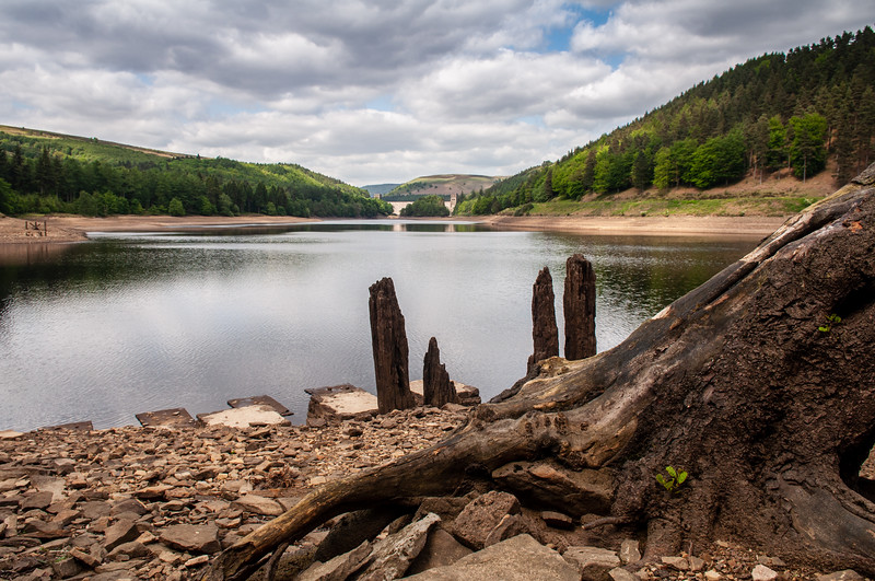 Low water in Derwent Reservoir