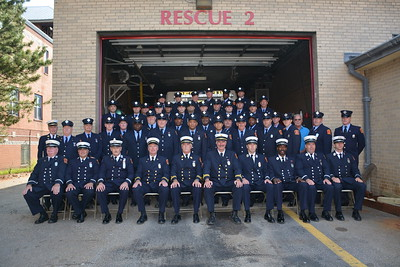 Engine Co. 42 and Rescue Co. 2 Group photos...August 28, 2016