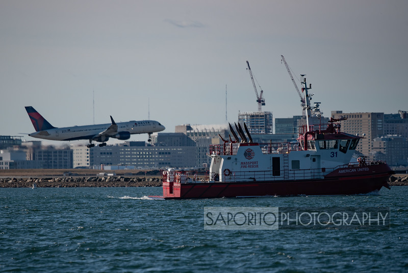 MASSPORT Fire Boat with Delta 757