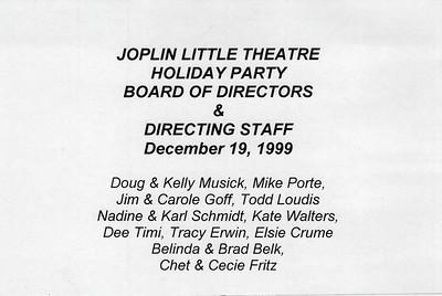 12-19-1999 Joplin Little Theatre Board & Directors Party