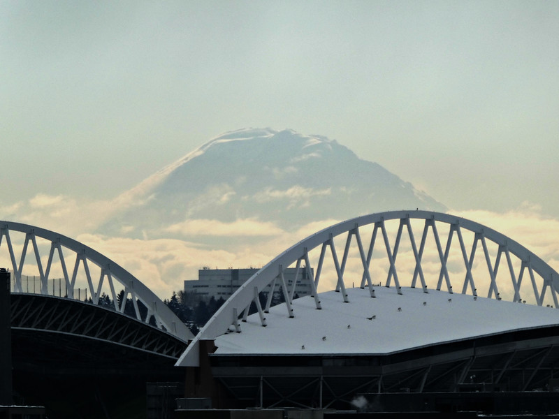 Ranier - From the roof vista of Pike Place