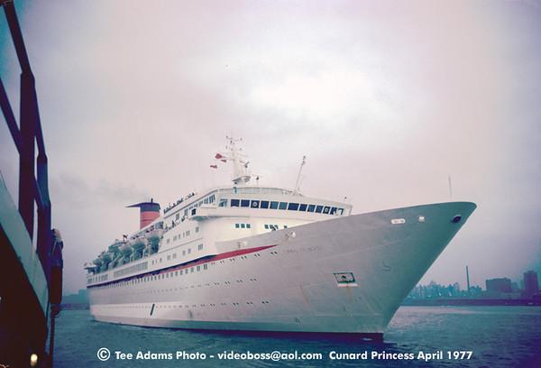 Cunard Princess NYC 1977