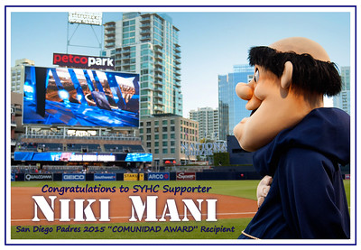 SYHC Supporter Niki Mani @ Petco Park April 27 2015