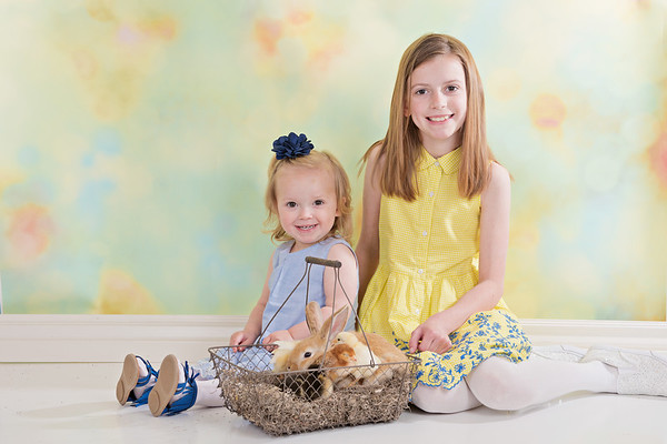 Tenley & Blakely Easter Mini 2017