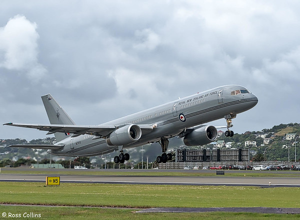 RNZAF B757-2K2 at Wellington