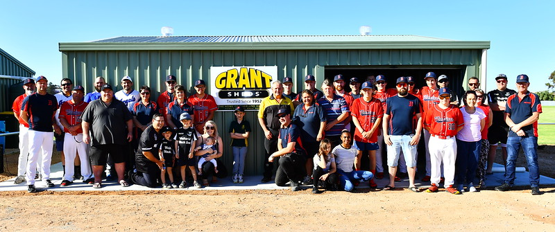 Opening of Riverland Baseball Shed (Donated by Grant Sheds)