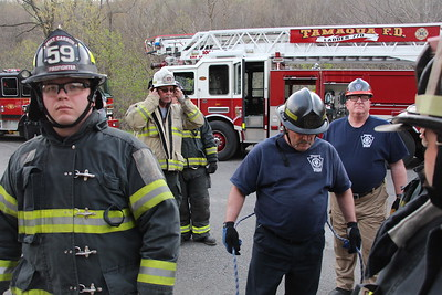 Firefighter Survival Training, Egress Drill, Training Grounds, Tamaqua (4-25-2016)