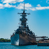 This picture of the USS Missouri at Pearl Harbor was taken from the USS Arizona Memorial.  The Missouri is where the Japanese signed their surrender to Admiral Nimitz and General MacArthur on September 2, 1945.