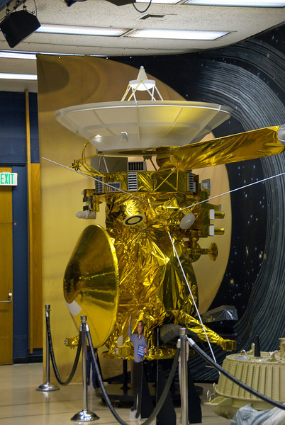 Spacecraft model in JPL, California