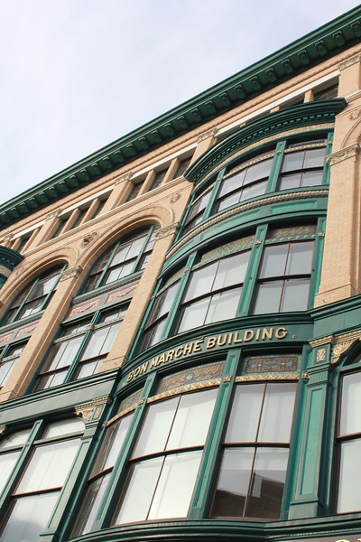 front of Bon Marche Building - Merrimack St. - Lowell, MA