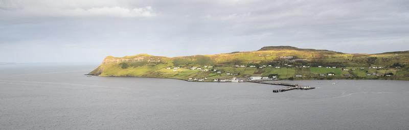 Uig village and pier