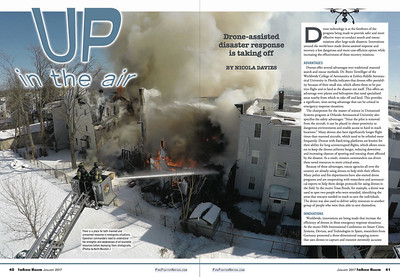 January 2017 Fire Rescue Magazine Published Drone Photos