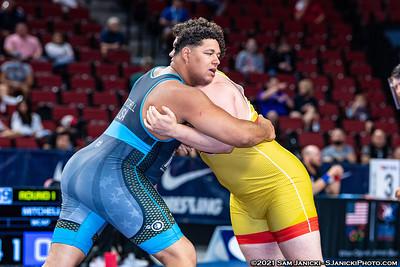 130 - Schultz def Mitchell - Greco - 2021 Senior World Team Trials
