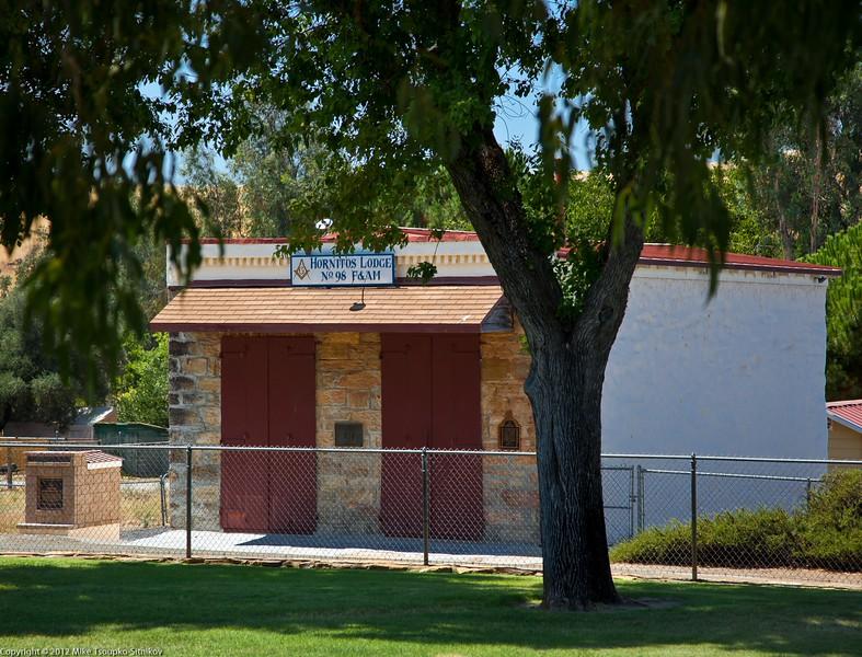 Hornitos. The Masonic Lodge building