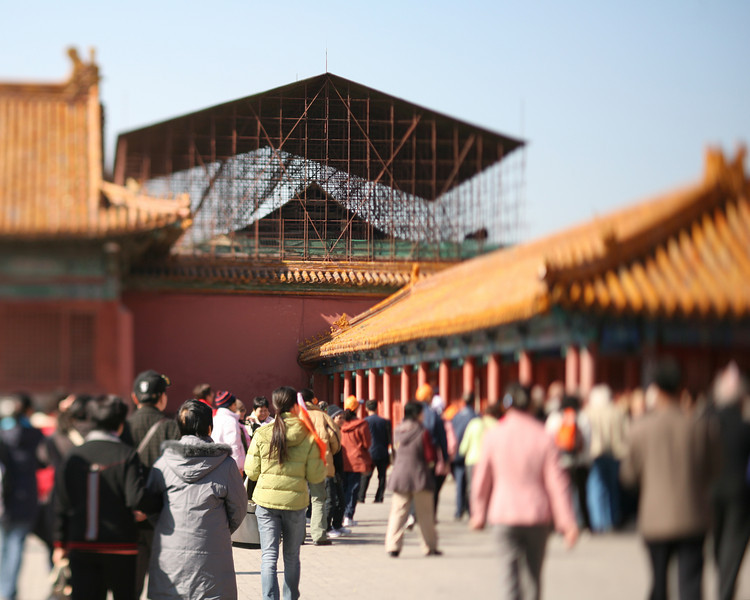 Renovations in the Forbidden City, Beijing, China