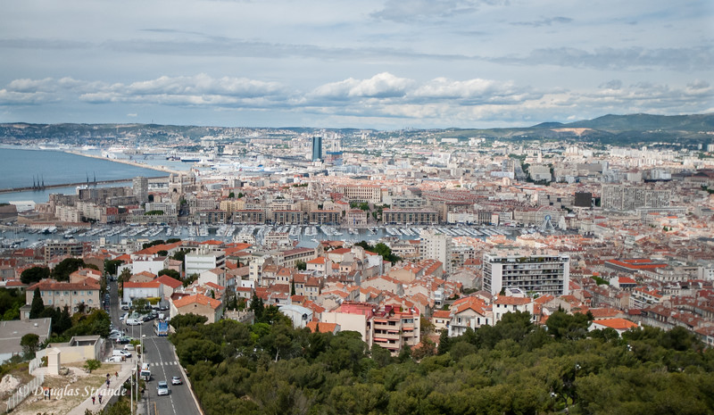 Marseille, France: View of the port  from Notre-Dame de la Garde