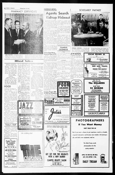Daily Trojan, Vol. 55, No. 55, December 13, 1963