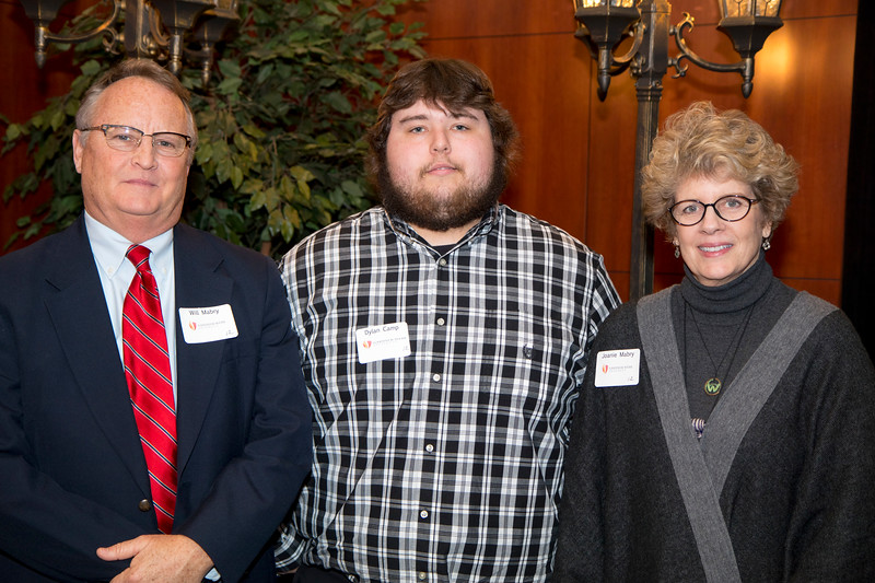 Student scholarship recipients beside their scholarship donors.