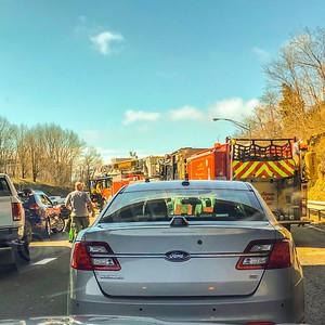 MVA w/ Car Fire - I95, Bridgeport, CT - 8/25/19