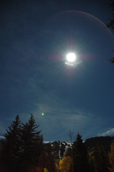 Full moon over Aspen Colorado