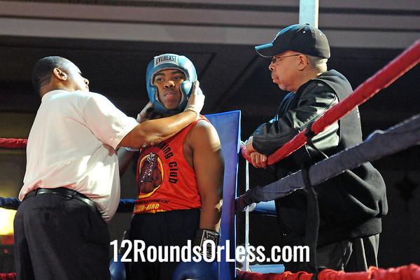 Bout 4 Carmen Gore, King's Gym, Nordonia -vs- Nicholas Baker, Brickhouse Boxing, Twinsburg-165 lbs, Jrs.