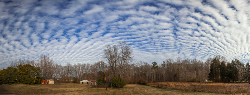 Altostratus Radiatus Clouds