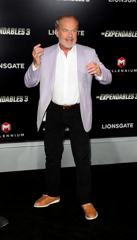 ". Actor Kelsey Grammer arrives at the Premiere Of Lionsgate Films\' ""The Expendables 3\"" at TCL Chinese Theatre on August 11, 2014 in Hollywood, California.  (Photo by Frazer Harrison/Getty Images)"
