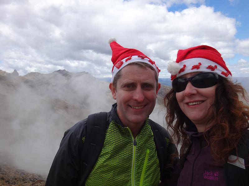 Christmas festivities in the sulphur gasses