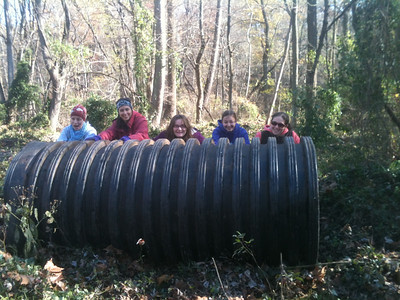 11.6.12 Cleanup on Deep Run off Race Road in Howard County with Girl Scouts from Troop 2336