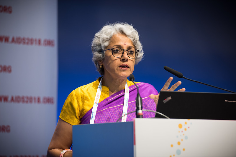22nd International AIDS Conference (AIDS 2018) Amsterdam, Netherlands   Copyright: Marcus Rose/IAS  Photo shows: TB 2018: Bridging the TB and HIV Communities. Towards universal health coverage for TB and HIV Soumnya Swaminathan, World Health Organization, Switzerland.